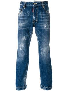 укороченные джинсы с протертостями Dsquared2