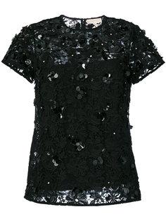 кружевная блузка с цветочной аппликацией  Michael Michael Kors