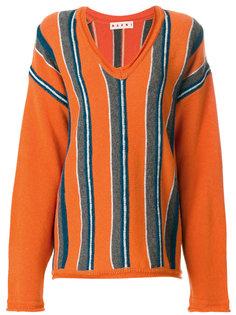 свободный свитер в полоску  Marni