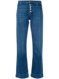 расклешенные джинсы с пуговичной отделкой Alexa Chung