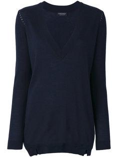 свитер с глубоким V-образным вырезом  Twin-Set