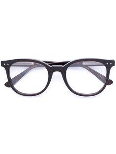 очки в круглой оправе Bottega Veneta Eyewear