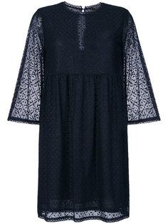 расклешенное полупрозрачное платье  Twin-Set