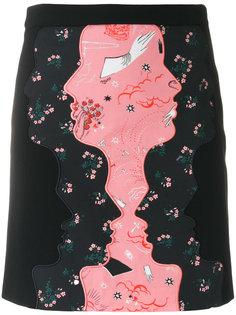 мини-юбка с принтом профилей Vivetta