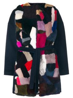 пальто с меховой вставкой  Ava Adore