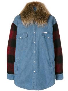 джинсовая куртка с рукавами в клетку  Forte Couture