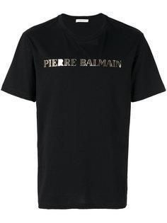 футболка с принтом с логотипом Pierre Balmain