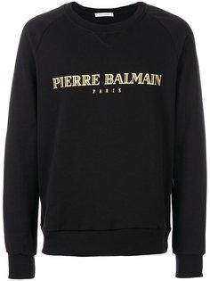 футболка с принтом-логотипом Pierre Balmain