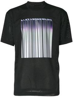 сетчатая футболка со штрих кодом Alexander Wang