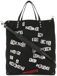 полотняная сумка-тоут с заплатками Valentino