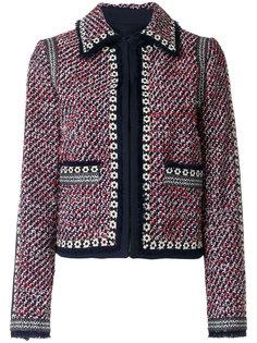 твидовый пиджак с воротником Tory Burch