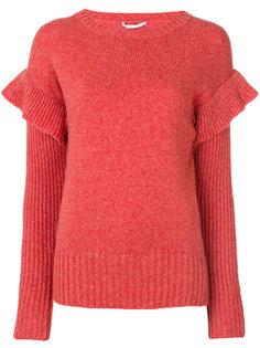 свитер с оборками на рукавах Agnona
