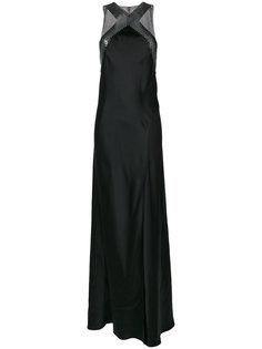 расклешенное длинное платье с вырезом-халтер Paco Rabanne