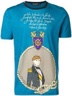 футболка с принтом в стиле милитари Dolce & Gabbana