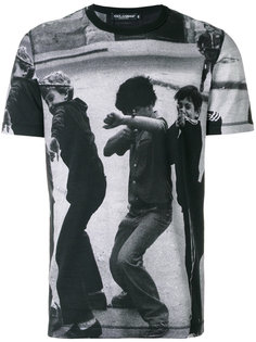 футболка с принтом в фотографическим принтом Dolce & Gabbana