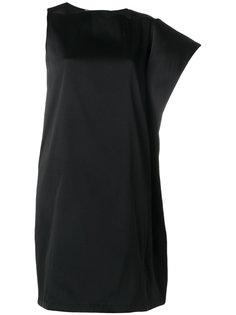 асимметричное платье с драпированным рукавом Gianluca Capannolo