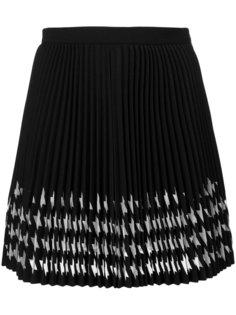 плиссированная юбка с рисунком MSGM