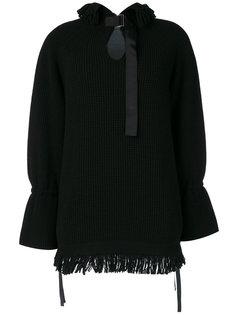 свитер с бахромой  Sacai