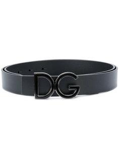 ремень с пряжкой с логотипом Dolce & Gabbana