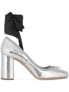 туфли-лодочки на массивном каблуке  Miu Miu