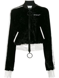 укороченная бархатная куртка-бомбер   Off-White