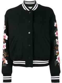 университетская куртка с цветочной вышивкой  Off-White