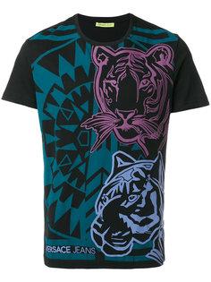 футболка с принтом тигров Versace Jeans