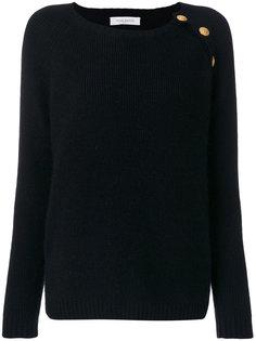 свитер в рубчик с пуговичной отделкой Pierre Balmain