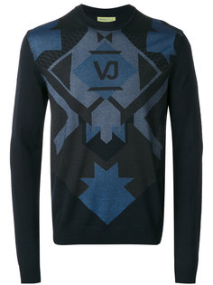 джемпер с геометрическим принтом Versace Jeans
