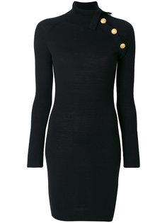 платье с пуговичной отделкой Pierre Balmain
