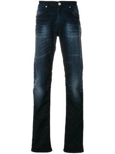 джинсы прямого кроя с потертой отделкой Versace Jeans