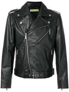 классическая байкерская куртка  Versace Jeans