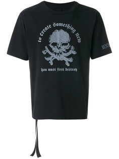 футболка с принтом черепа Unravel Project