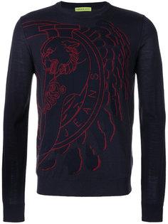 джемпер с принтом логотипа Versace Jeans