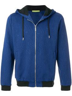 куртка с капюшоном и принтом-логотипом Versace Jeans