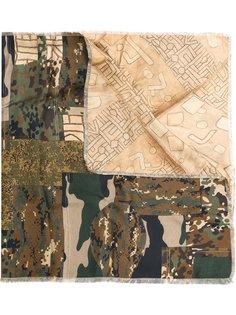 шарф с камуфляжным принтом Pierre-Louis Mascia