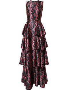 вечернее многоярусное платье Huishan Zhang