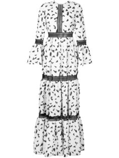 платье с рисунком и рукавами-колокол Huishan Zhang