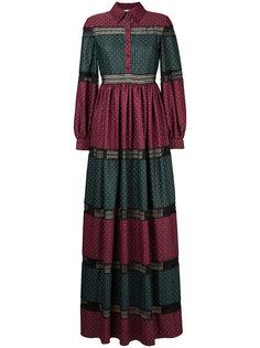 полосатое платье в пол Huishan Zhang