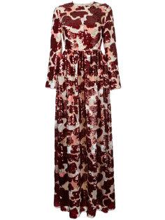 длинное платье с пайетками Huishan Zhang