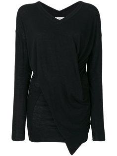 асимметричный свитер с рюшами Isabel Marant Étoile