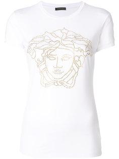 футболка Medusa с украшением из кристаллов Versace
