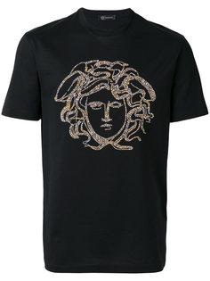 футболка с декором Medusa Versace