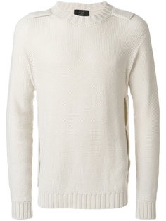 свитер с деталями в виде погонов Maison Flaneur