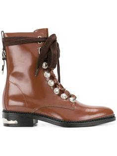 ботинки на шнуровке с декоративными заклепками Toga Pulla