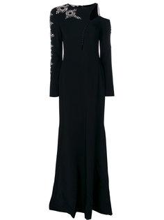 платье на одно плечо с отделкой  Antonio Berardi