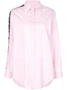 рубашка с люверсами и украшением из бусин Nº21