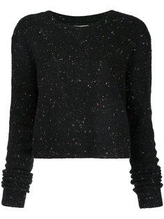 укороченный свитер с блестками Public School