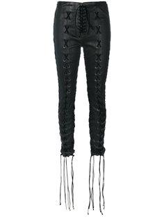 брюки со шнуровкой  Unravel Project