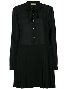 платье-рубашка с бантом Versace Jeans